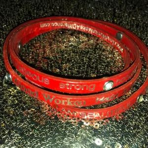 Good works red bracelet